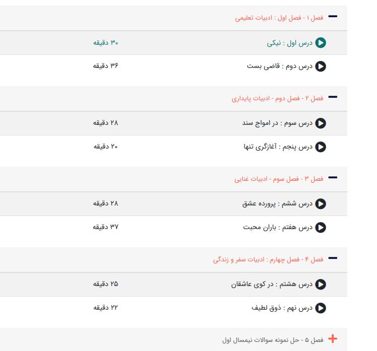 آموزش مفهومی فارسی و نگارش یازدهم