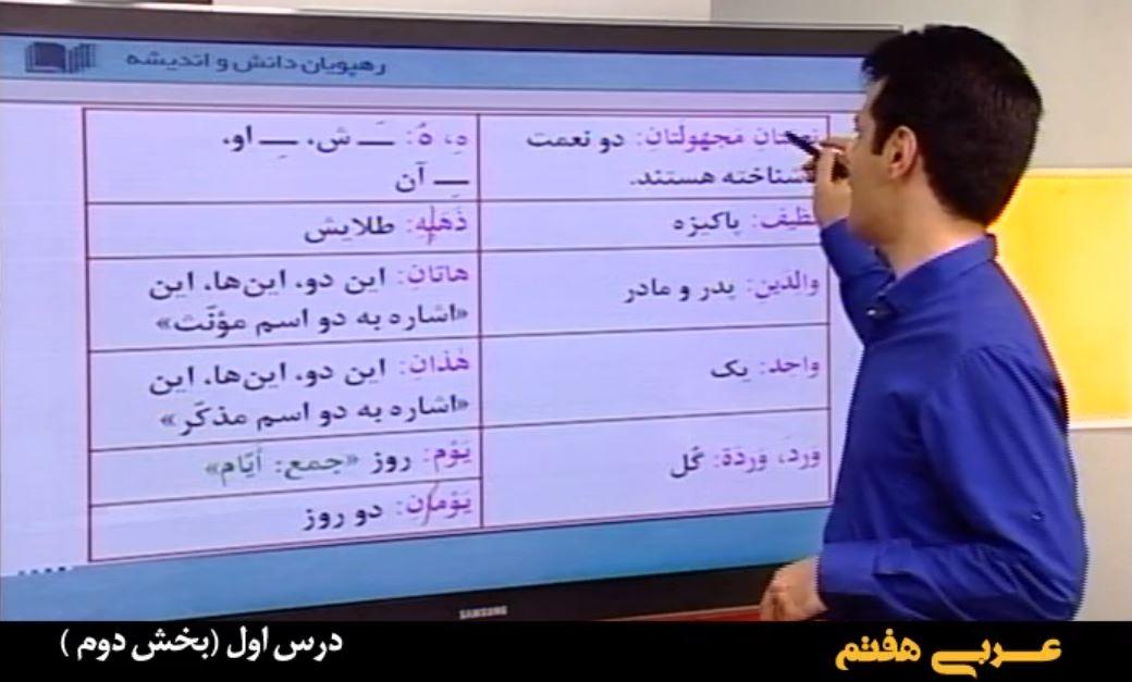 آموزش مفهومی عربی هفتم
