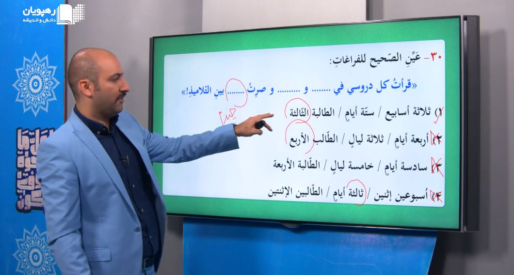 عربی عمار کنکور انسانی رهپویان