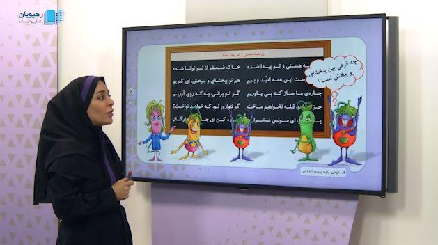 آموزش مفهومی فارسی پنجم دبستان رهپویان